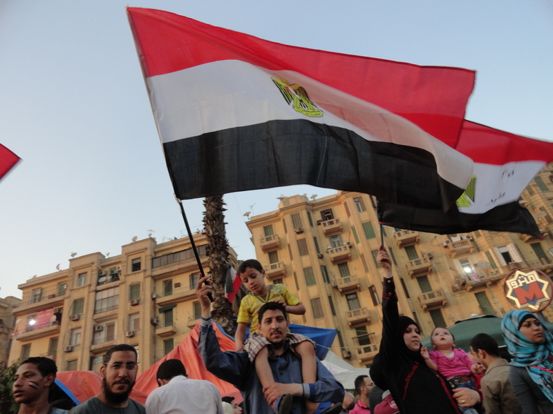 People celebrating in Tahrir today, June 24th 2012